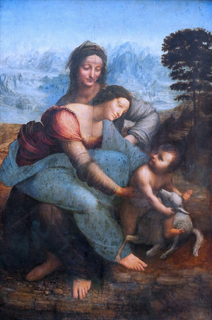 The Virgin and Child with St. Anne (Leonardo da Vinci).PNG