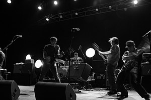 English: The Weakerthans performing on Decembe...