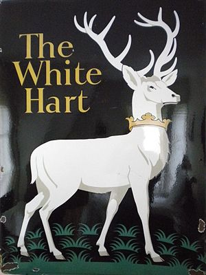 White Hart - The White Hart pub sign