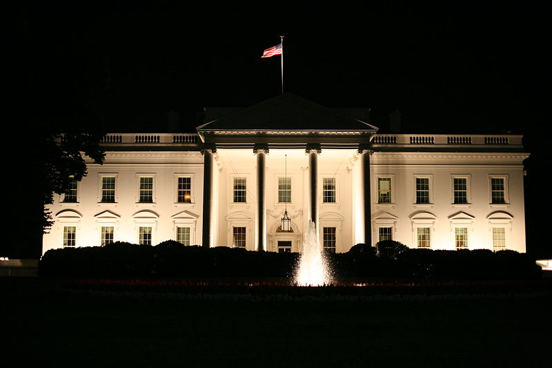 File:The White House at night.jpg