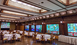 Dining room - A Japanese example: the dining room of the Fujiya Hotel in Hakone
