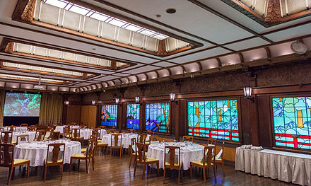 A Japanese example: the dining room of the Fujiya Hotel in Hakone