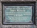 The probable site where on May 24 1738 John Wesley felt his heart strangely warmed. This experience of grace was the beginning of Methodism.jpg