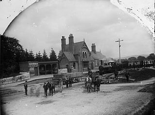 The railway station, Montgomery