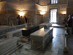 The tomb of Tamerlane (black stone).JPG
