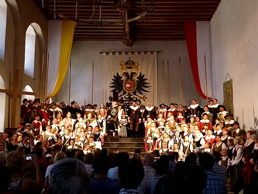 Historisches Festspiel Der Meistertrunk in Rothenburg ob der Tauber, Bayern, Germany - panoramio (1)