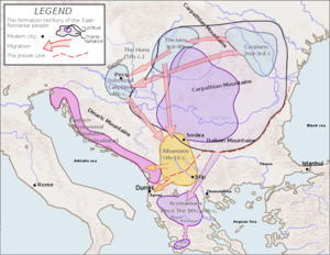 Origin of the Albanians - Albanians from the 5th to 10th centuries according to the Dacian theory.