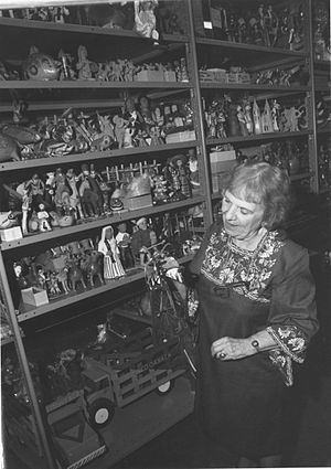 Theresa Caplan - Caplan with some of her collection
