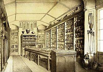 Thomas Bateman - Thomas Bateman's museum at Lomberdale Hall, Middleton-by-Youlgreave