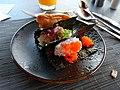 Three of sushi on ymca.jpg
