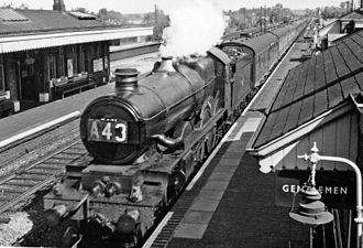 Tilehurst railway station - Down Hereford express in 1962.