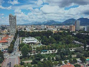 Rinia Park - Image: Tirana's Rinia Park (Aug '15)