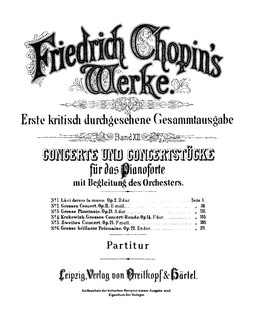 Chopins compositions for piano and orchestra