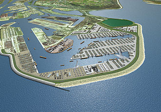 Maasvlakte - Artist impression of the Maasvlakte 2