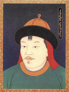 Uskhal Khan Tögüs Temür emperor of the Northern Yuan Dynasty