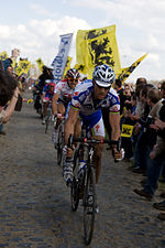 Tom Boonen and Fabian Cancellara, 2008 Paris-Roubaix.jpg