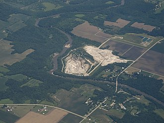 Tonica, Illinois - Aerial view of Tonica