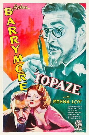 Topaze (1933 American film) - Theatrical release poster
