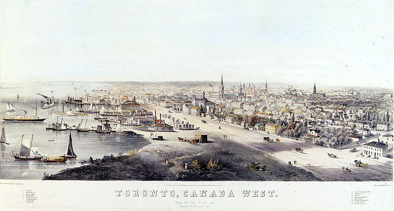File:Toronto, Canada West in 1854.jpg