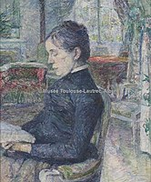 Toulouse-Lautrec - LA COMTESSE ADELE DE TOULOUSE-LAUTREC DANS LE SALON DU CHATEAU DE MALROME, 1887, MTL.122.jpg