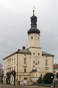 Town hall in Wiązów (Poland, February 2011).jpg