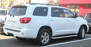 Toyota Sequoia - The back of the Toyota Sequoia SR5