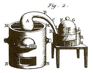 Traité Élémentaire de Chimie - A diagram from the book.