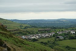 Trebanog Village from Cymmer Mountain - geograph.org.uk - 1387248.jpg