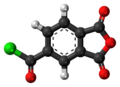 Trimellitic anhydride chloride 3D ball.png