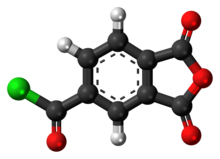 Ball-and-stick model of trimellitic anhydride chloride