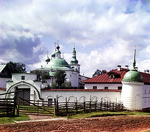 Goritsky Monastery (Goritsy) - The monastery in July 1909, photo taken by Sergey Prokudin-Gorsky