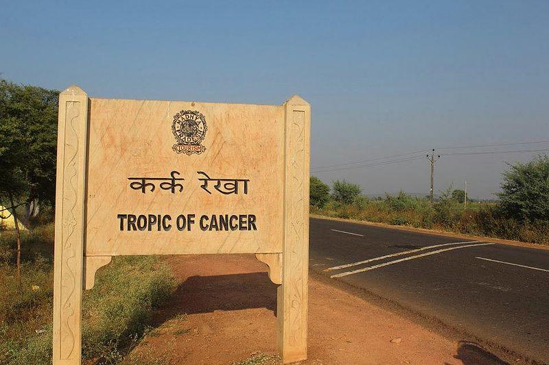 Tropic of cancer passes through Madhay Pradesh.jpg