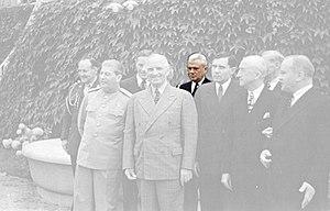James K. Vardaman Jr. - Vardaman in second row at Potsdam Conference