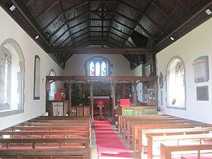 St. George, Conwy - Image: Tu fewn i Eglwys Llan San Sior inside St George, Abergele, North Wales 06