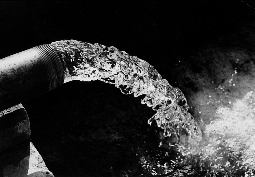 Tube well in India in 1968