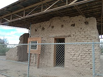 Arizona Historical Society - The Fort Lowell Hospital ruins. The hospital was built in 1878 and is located in the Fort Lowell Park.