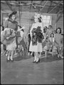 Tule Lake Relocation Center, Newell, California. A fashion show was one of the many exhibits held a . . . - NARA - 538398.tif