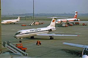 Berlin Schönefeld Airport - Eastern bloc airlines TAROM, Aeroflot and Interflug in 1990