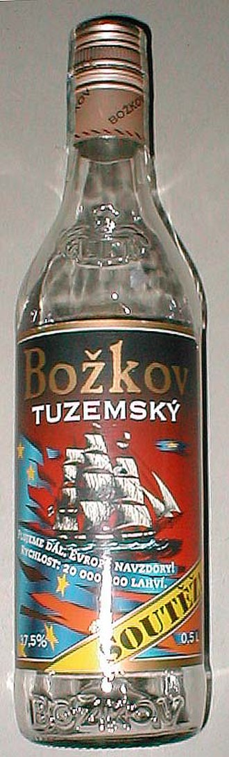 Sugar beet - Tuzemák, a sugar-beet-based alcohol brand from Czech Republic, is golden red in color.