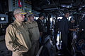 U.S. Sailors assigned to the guided missile destroyer USS Truxtun (DDG 103) work alongside Bulgarian and Romanian sailors on the ship's bridge while underway in the Bosphorus strait March 7, 2014 140307-N-EI510-067.jpg