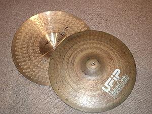 """Hi-hat - Vented UFIP 14"""" hi-hat cymbals"""