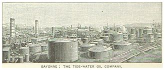 Bayonne refinery strikes of 1915–16 - Bayonne, New Jersey - the Tidewater Oil Co. refinery complex in 1890