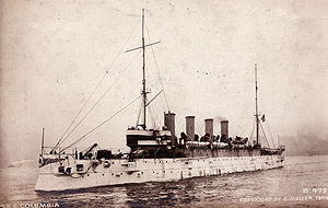 Santo Domingo Affair - Image: USS Colombia 1904