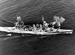 USS Minneapolis (CA-36) firing her main battery guns during battle practice, 29 March 1939 (80-CF-21343-2).jpg