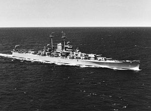 Oregon City-class cruiser - Image: USS Oregon City (CA 122) underway at sea on 17 June 1946 (80 G 262557)