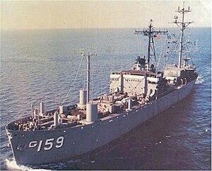 USS Oxford (AGTR-1) - Image: USS Oxford (AG 159)