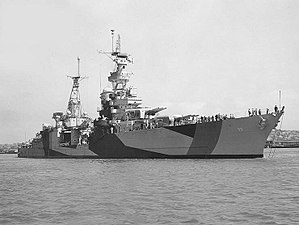 Portland-class cruiser - Image: USS Portland (CA 33) off the Mare Island Naval Shipyard on 30 July 1944 (19 N 70346)