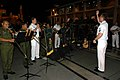US Navy 040625-N-4104L-030 Musician 1st Class Alex Gowland conducts the Seventh Fleet band.jpg
