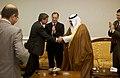 US Navy 040628-F-0193C-008 Ambassador L. Paul Bremer and Iraqi President Sheikh Ghazi Ajil al-Yawar shake hands.jpg