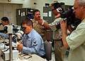 US Navy 050606-N-0050T-044 Local news reporter Rod Luck, of television station KUSI interviews Lt. Cmdr. Steve W. Allen.jpg